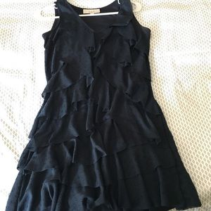 Ann Taylor navy ruffle dress